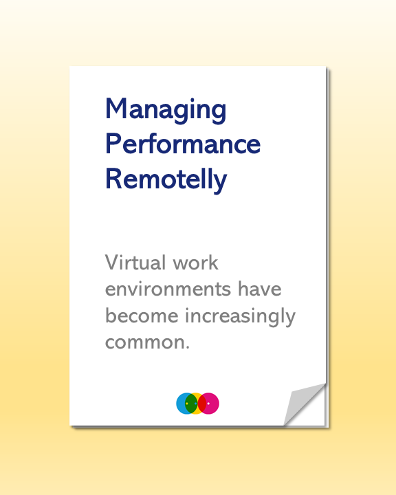 Managing Performance Remotelly