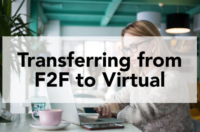 Transferring face-to-face to virtual
