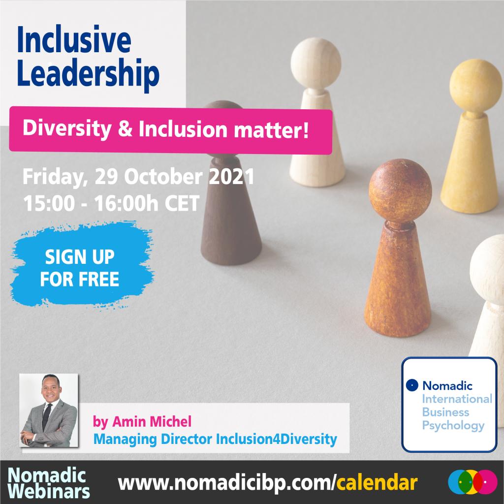 Inclusive Leadership | Nomadic Webinars | 29 October 2021